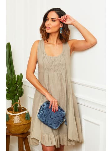 "Le Monde du Lin Leinen-Kleid ""Mykonos"" in Taupe"