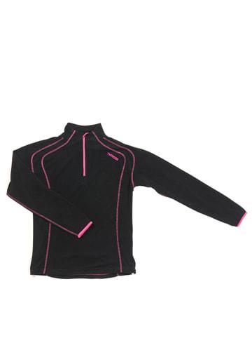 HULABALU Fleece trui zwart/roze