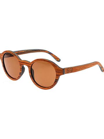"Earthwood Unisex-Sonnenbrille ""Maho"" in Naturholz/ Braun"