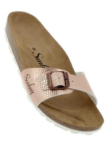 """Sunbay Slippers """"Jasmin"""" roségoudkleurig"""