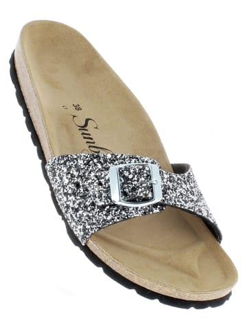 """Sunbay Slippers """"Jasmin"""" zilverkleurig"""