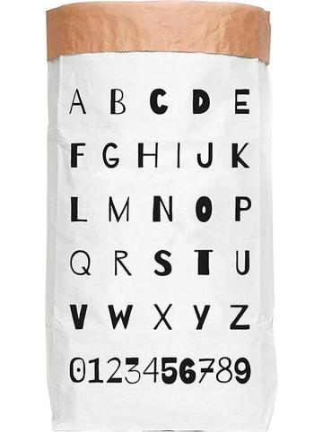 """Little nice things Aufbewahrungstüte """"ABC"""" in Weiß/ Schwarz - (B)60 x (H)90 x (T)13 cm"""