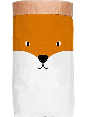 "Little nice things Opbergzak ""Fox"" wit/zwart/oranje - (B)60 x (H)90 x (D)13 cm"