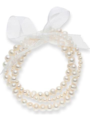 Nova Pearls Copenhagen Bransoletka perłowa w kolorze białym