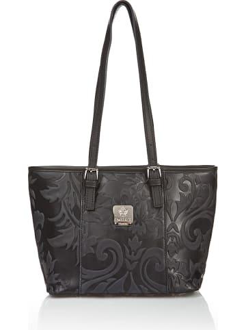 I MEDICI FIRENZE Skórzany shopper bag w kolorze czarnym - 30 x 22 x 13 cm