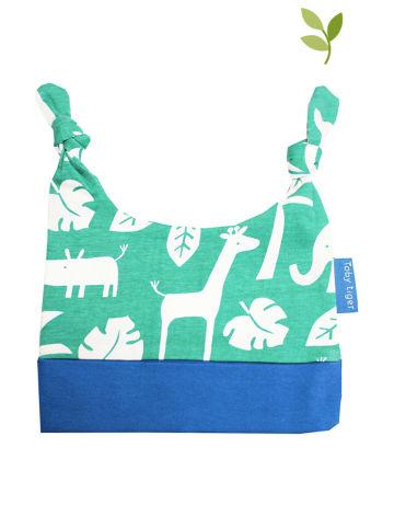 Toby Tiger Czapka w kolorze zielono-biało-niebieskim