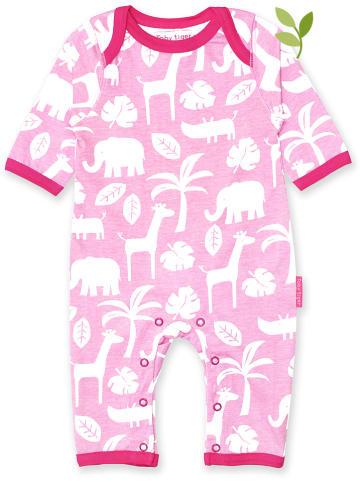 Toby Tiger Piżama w kolorze jasnoróżowo-białym