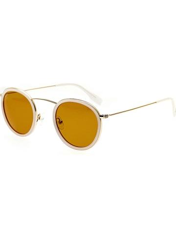 """Simplify Damskie okulary przeciwsłoneczne """"Jones"""" w kolorze beżowo-brązowo-złotym"""