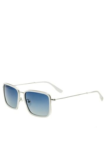 "Simplify Herenzonnebril ""Parker"" wit/blauw"