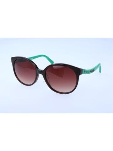 Just Cavalli Damen-Sonnenbrille in Dunkelbraun-Türkis/ Hellbraun