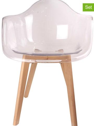 THE HOME DECO FACTORY Krzesła (2 szt.) - 62 x 82,5 x 60,5 cm
