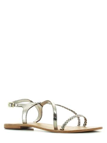 JONAK Leren sandalen zilverkleurig