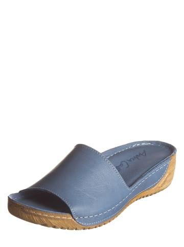 Andrea Conti Leren slippers blauw