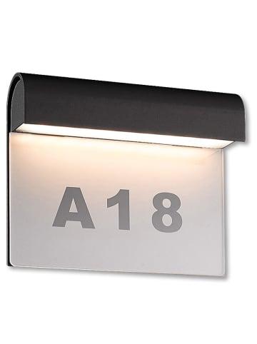 Näve Zewnętrzna lampa LED w kolorze antracytowym - 20 x 16 cm