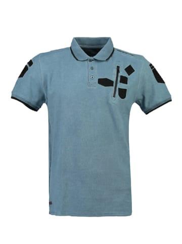 "Canadian Peak Poloshirt ""Kagger"" in Blau"
