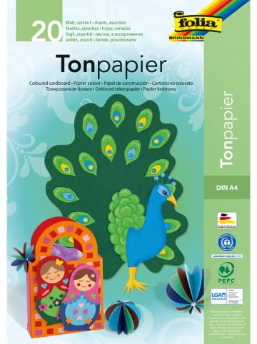 Folia Bouwpapier meerkleurig - 20 vellen - A4
