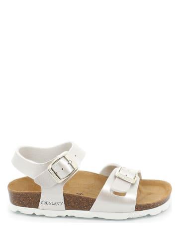 Grünland Sandały w kolorze białym