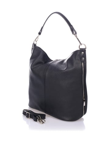 Massimo Castelli Skórzany shopper bag w kolorze czarnym - 40 x 55 x 15 cm