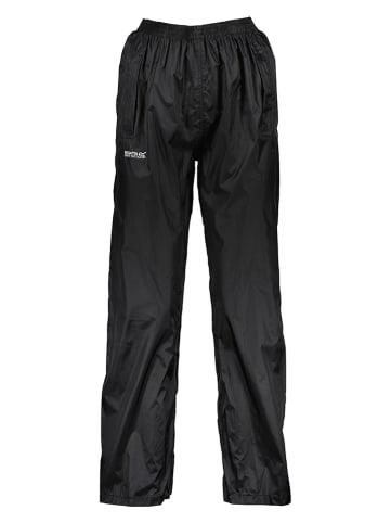 """Regatta Spodnie przeciwdeszczowe """"Pack It"""" w kolorze czarnym"""