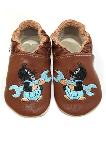 Hobea Buty niemowlęce w kolorze brązowym
