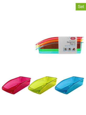 COOK CONCEPT Kolorowe szuflady (3 szt.) do lodówki - 32 x 8 x 15 cm (produkt niespodzianka)