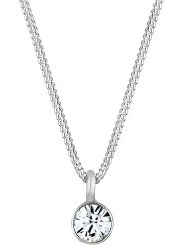 Elli Silber-Halskette mit Swarovski Kristall - (L)45 cm