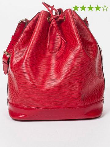 "Louis Vuitton Leder-Schultertasche ""Noe GM"" in Rot - (B)27 x (H)34 x (T)16 cm"
