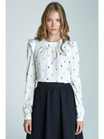 Nife Bluzka w kolorze białym ze wzorem