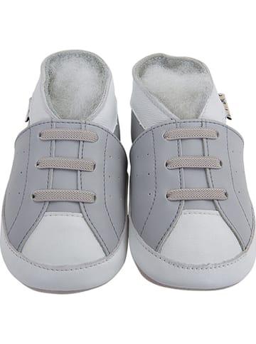 """Lait et Miel Skórzane buty niemowlęce """"Original"""" w kolorze szarym"""