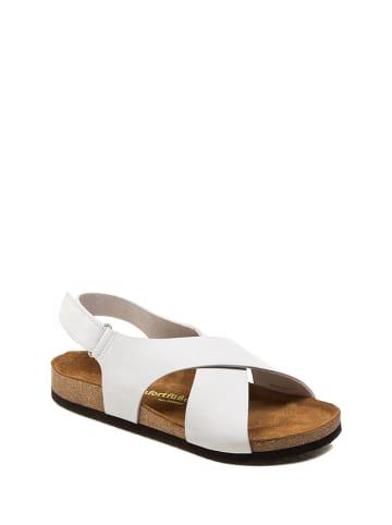 Comfortfusse Skórzane sandały w kolorze białym
