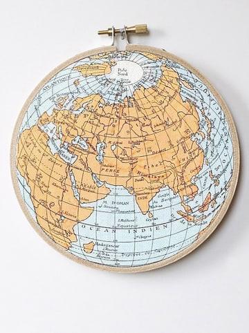 """The Wild Hug Wanddecoratie """"Worldmap"""" - Ø 25 cm"""