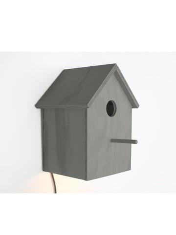 """Madre Selva Kids Dekoracyjna lampa LED """"Pajaro"""" w kolorze szarym - 14 x 23 cm"""