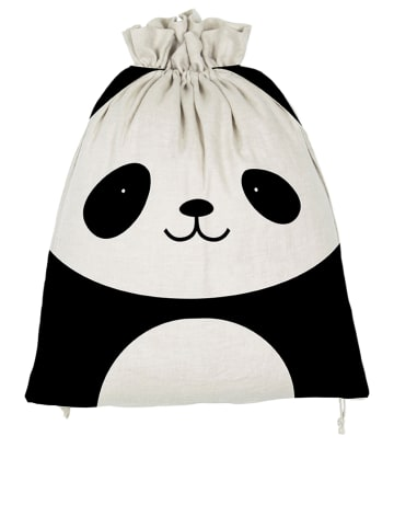 """The Wild Hug Turnbeutel """"Little Panda"""" in Weiß/ Schwarz - (L)42 x (B)30 cm"""