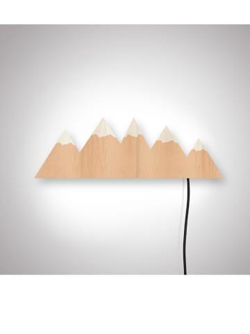 """The Wild Hug Dekoracyjna lampa LED """"Mountains"""" w kolorze jasnobrązowym - 46 x 35 cm"""