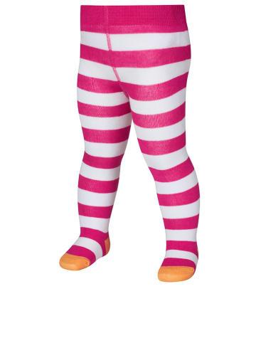 Playshoes Rajstopy w kolorze różowo-białym