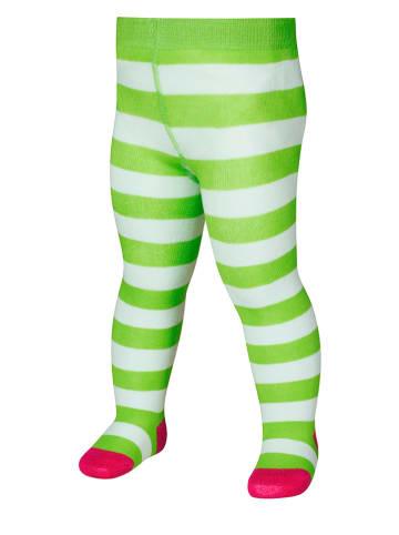 Playshoes Rajstopy w kolorze zielono-białym