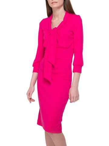Yuliya Babich Sukienka w kolorze neonowróżowym