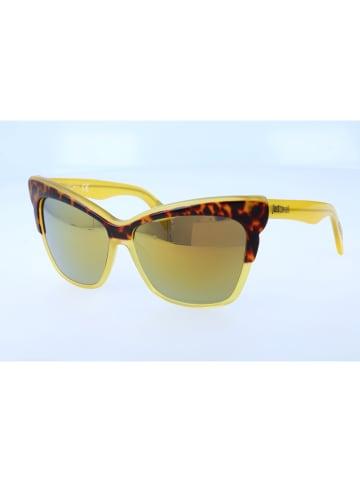 Just Cavalli Damen-Sonnenbrille in Braun/ Gelb