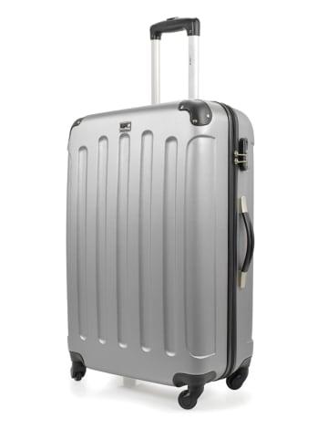 "BlueStar Hardcase-trolley ""Madrid"" zilverkleurig - (B)36 x (H)50 x (D)26 cm"