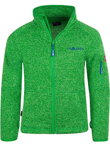 """Trollkids Fleece vest """"Jondalen"""" groen"""