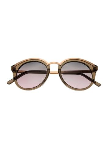 """Bertha Damskie okulary przeciwsłoneczne """"Caroline"""" w kolorze oliwkowo-szarym"""