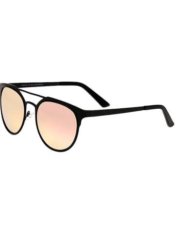 """Breed Unisex-Sonnenbrille """"Mensa"""" in Schwarz/ Rosa"""