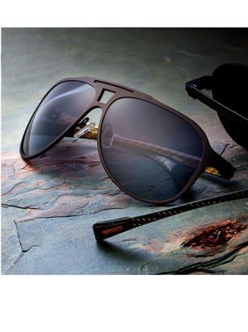 Breed Herren-Sonnenbrille in Dunkelbraun