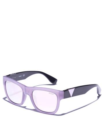 Guess Dameszonnebril paars-zwart/ lichtroze-zilverkleurig