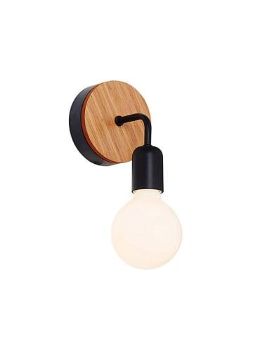 Homemania Wandlamp zwart/naturel - (B)13 x (H)26 cm