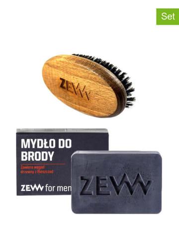 ZEW 2-częściowy zestaw - mydło do brody, szczotka