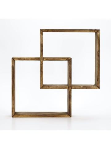 Kate Louise Półka  w kolorze brązowym - (S)51 x (W)51 x (G)8 cm