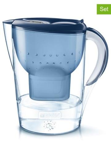 """Brita Vorteilspaket: Wasserfilter """"Marella XL"""" + 7 Kartuschen in Blau - 3,5 l"""