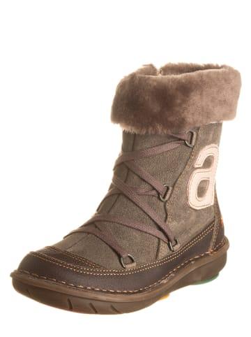 Art Kids Leren boots taupe