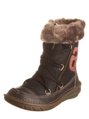 Art Kids Leren boots donkerbruin